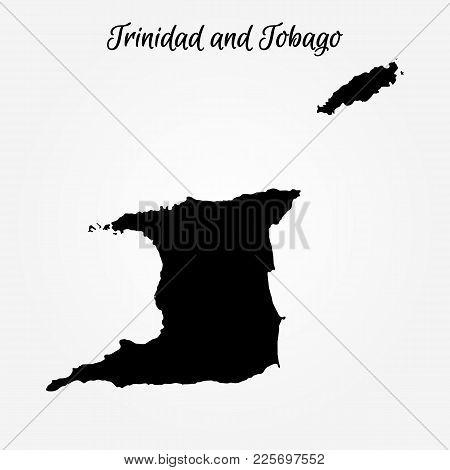 Map Of Trinidad And Tobago. Vector Illustration. World Map