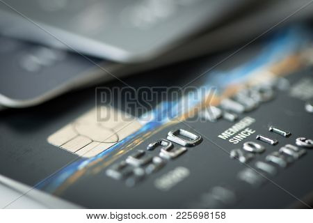 Close Up Shot Of Credit Card With Smart Chip