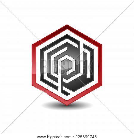 Hexagon - Vector Logo Concept Illustration. Hexagon Geometric Polygonal Logo. Hexagon Abstract Logo.