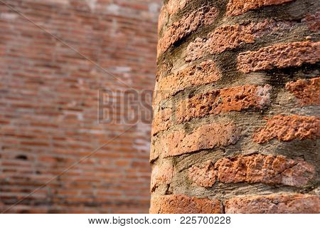 Ancient Old Decay Brick Wall Aged Grunge Background