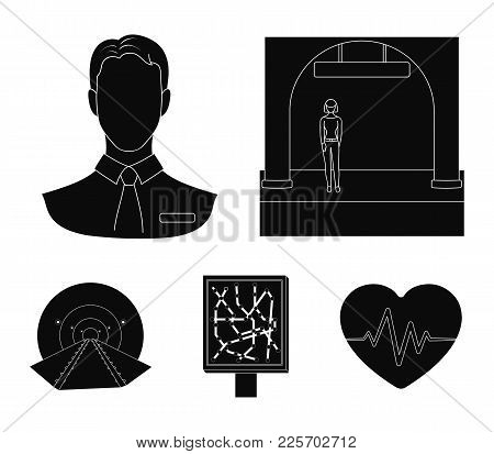 Mechanisms, Electric Transport And Other  Icon In Black Style.transport, Public, Equipment Icons In