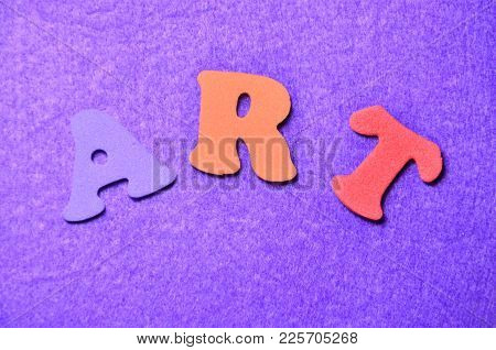 Word Art On An  Abstract Colored Background
