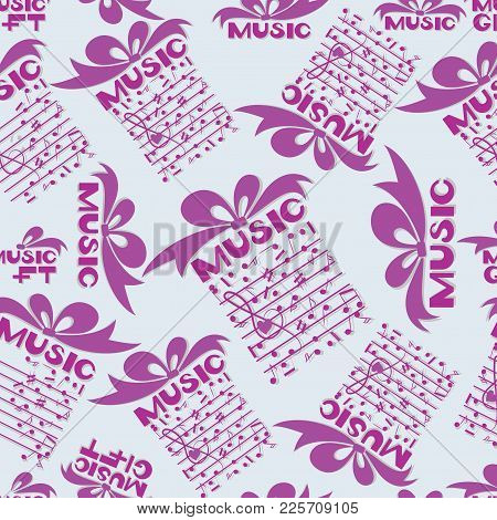 Musical Gift. Notes. Design For The Cover Of The Concert Program Of Classical Music, Music Festival,