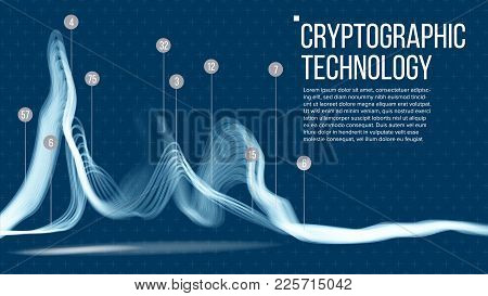 Cryptographic Technology Background Vector. Artificial Intelligence. Cryptography Binary Technologie
