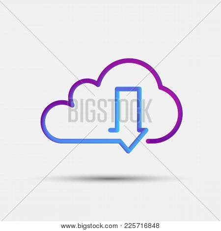 Download Blended Interlaced Creative Line Icon. Trendy Vector Liquid 3d Cloud Computing Download Ico