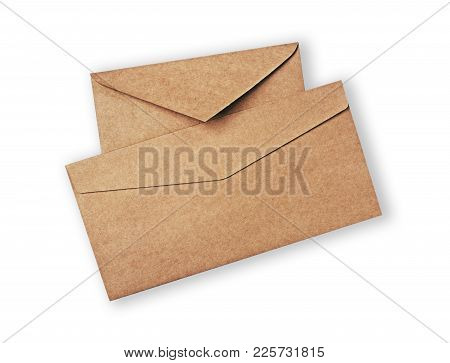 Two Different Vintage Craft Envelope For Business Correspondence