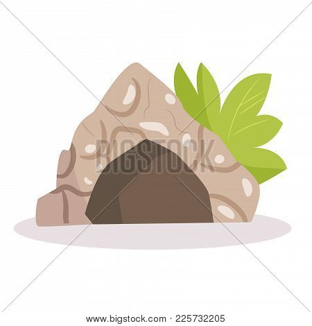 Cave. Isolated Art On White Background. Vector. Cartoon Flat