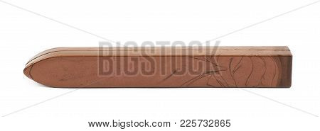 Stick Of Sealing Wax Isolated Over The White Background