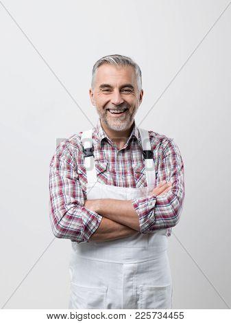 Smiling Professional Painter Portrait