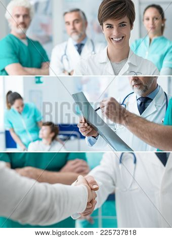 Healthcare Professionals Banners Set