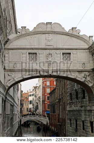 Venice Italy Ancient Bridge Of Sighs Is An Historical Building Called Ponte Dei Sospiri In Italian L