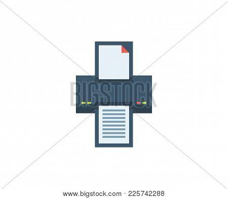 Fax Icon. Vector Illustration In Flat Minimalist Style.