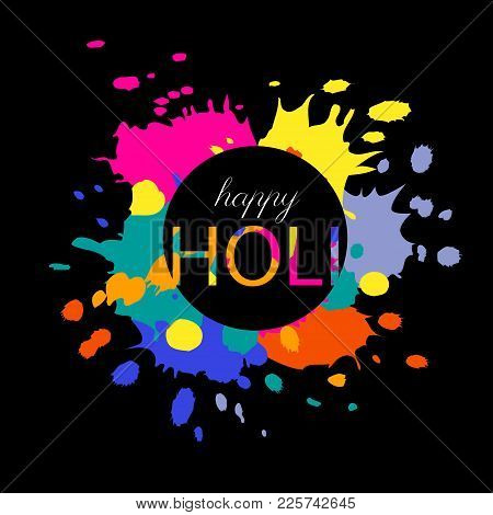 Abstract Colorful Happy Holi Background. Vector Illustration