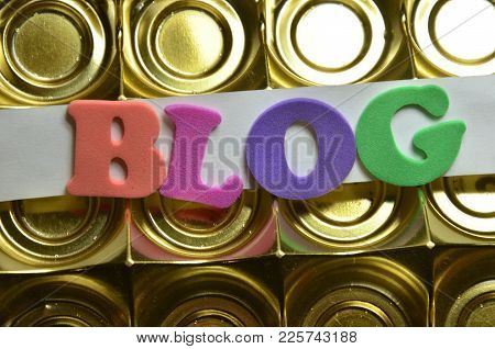 Word Blog On An  Abstract Colred Background