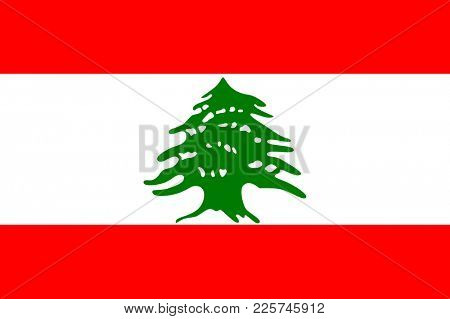 Flag of Lebanon. Symbol of Independence Day,