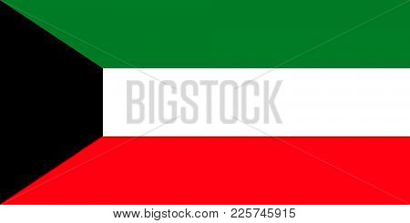 Flag of Kuwait. Symbol of Independence Day