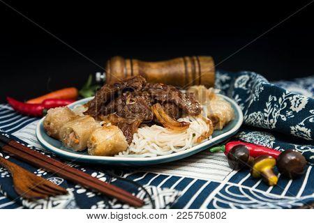 Beef Vietnamese food Bo bun rice vermicelli