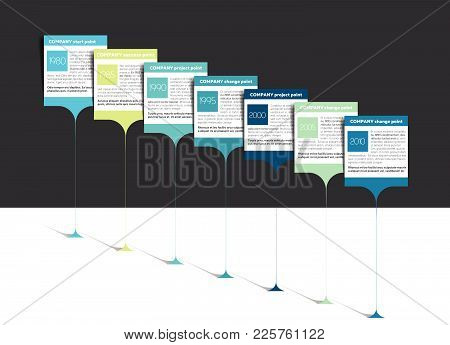 Milestone, Timeline, Step By Step Template, Infographic. Vector.