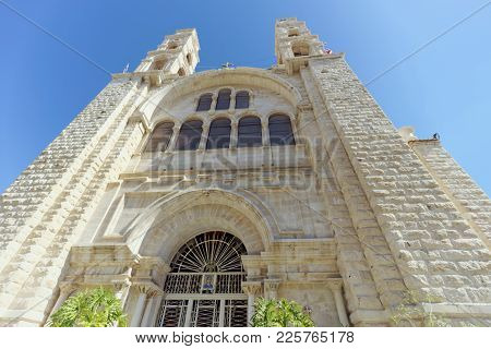 Orthodox Monastery Over The Well Of Jacob In Nablus In Palestine. The Meeting Place Of Jesus Christ