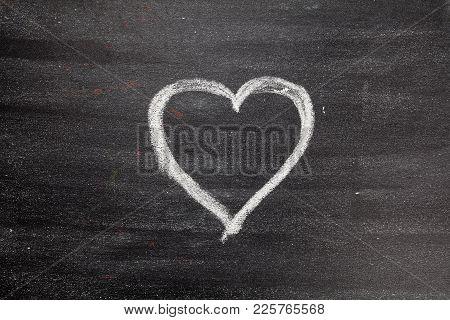 Chalk Board Heart Chalk Board, Envelope, Red Heart For Your Design. Beautiful.