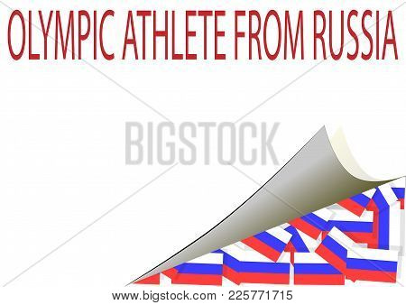 The Sticker Pasted Russian Flags Symbolizing Athletes.