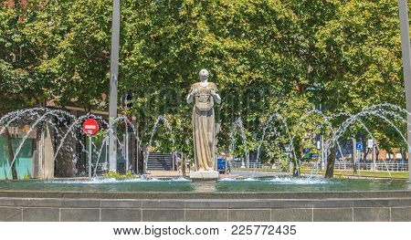Statue Of Melpomene In Greek Mythology The Muse Of Singing