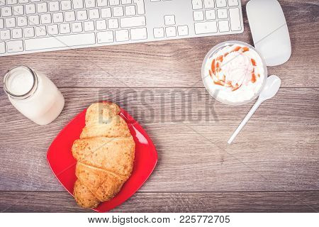 Working Table With Breakfast