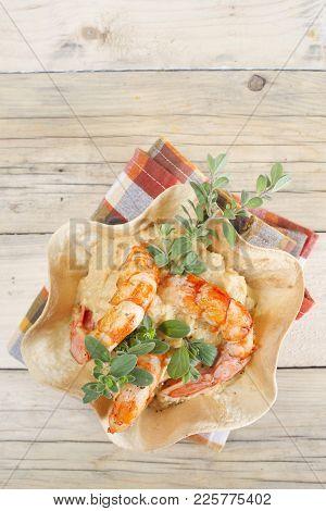 Chickpea And Shrimp Cream