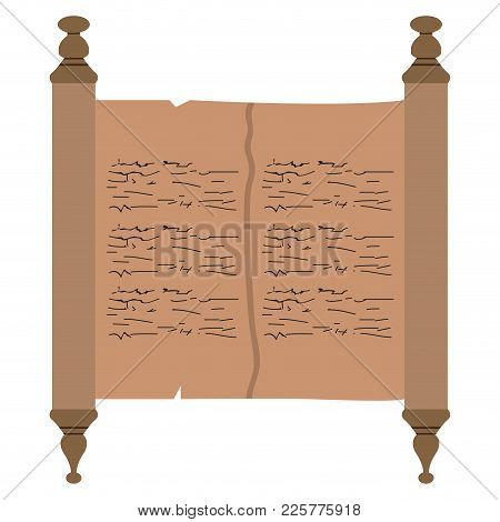 Isolated Traditional Torah Image. Vector Illustration Design
