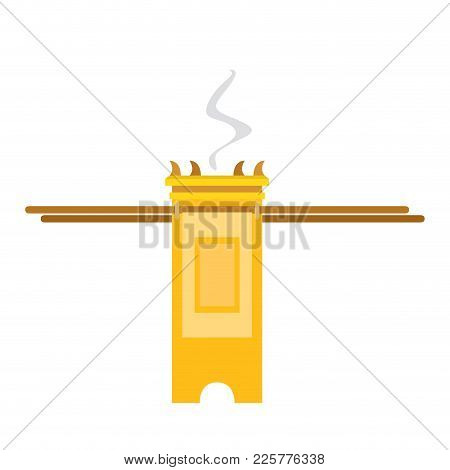 Isolated Golden Tabernacle Image. Vector Illustration Design