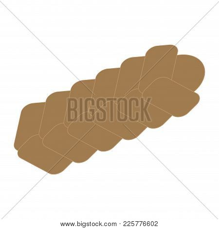Isolated Braided Bread Image. Vector Illustration Design