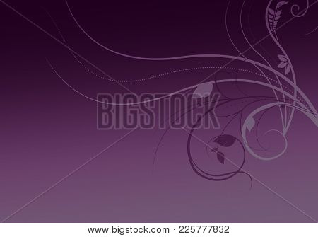 Elegant Purple Background With Space For Your Text