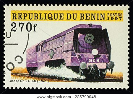 Moscow, Russia - February 09, 2018: A Stamp Printed In Benin, Shows Class
