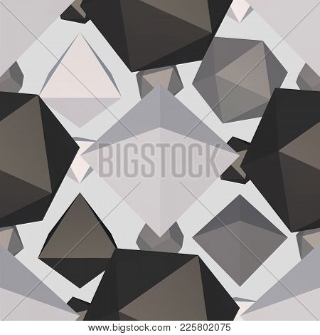 Difficult Geometric Shape Seamless Pattern Background. Vector Illustration.