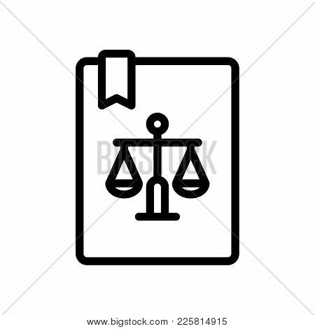 Law Scales Icon Isolated On White Background. Law Scales Icon Modern Symbol For Graphic And Web Desi
