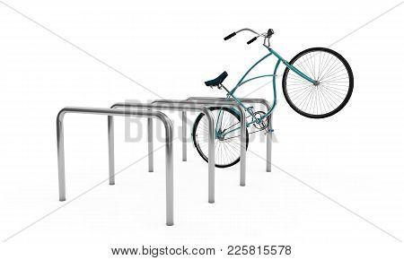 Bikes At A Parking Place, Bicycles, Bike Theme Elements, Street Speed Sport Bicycle, Bikes Isolated