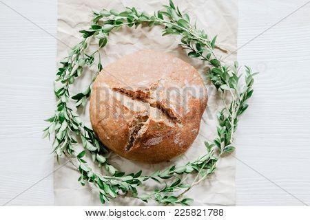 Eucharist Symbol Of Bread, First Communion Background
