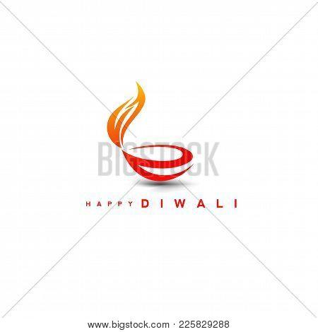 Stylish Diwali Diya On White Background Vector Illustration Design.