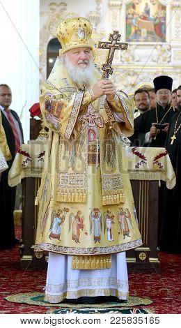 Patriarch Kirill On The Service In Kiev, In The Kiev Pechersk Lavra In The Summer, July 28, 2013cele