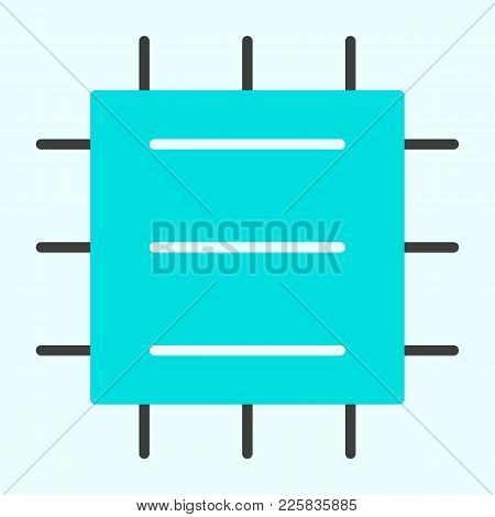 Central Processor Unit Icon. Cpu 96x96 For Web Graphics And Apps.  Chip Simple Minimal Pictogram. Ve