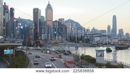 Causeway Bay, Hong Kong 14 January 2018:- Hong Kong Causeway Bay at night