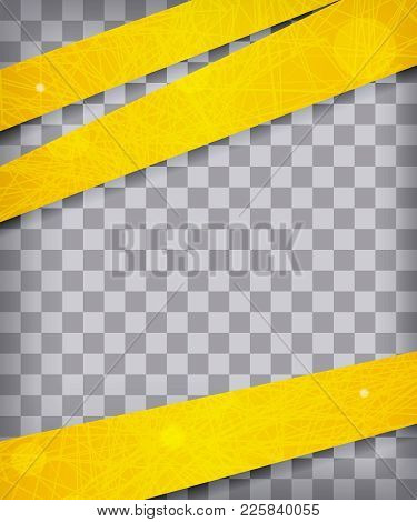Abstract Chequered Background With Yellow Lines And Stripes. Vector Illustration.
