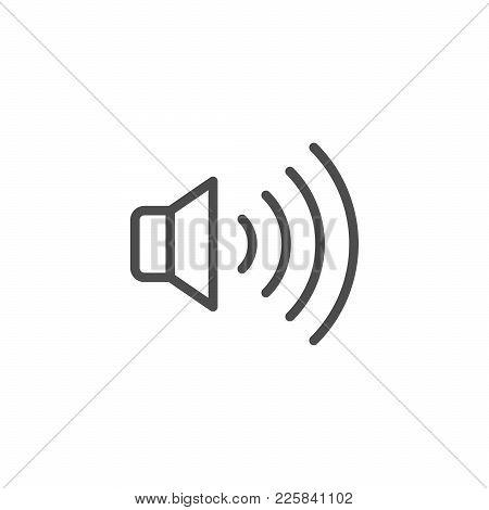Speaker Line Icon Isolated On White. Vector Illustration