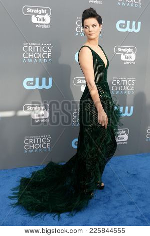 Jaimie Alexander at the 23rd Annual Critics' Choice Awards held at the Barker Hangar in Santa Monica, USA on January 11, 2018.