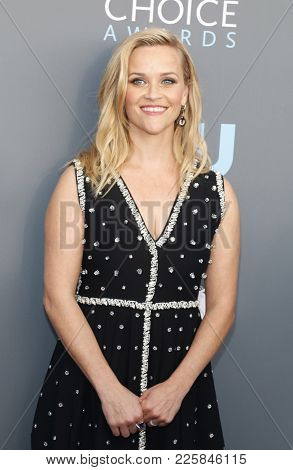 Reese Witherspoon at the 23rd Annual Critics' Choice Awards held at the Barker Hangar in Santa Monica, USA on January 11, 2018.