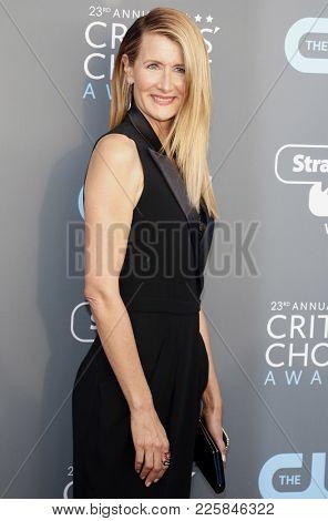 Laura Dern at the 23rd Annual Critics' Choice Awards held at the Barker Hangar in Santa Monica, USA on January 11, 2018.