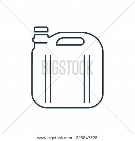 Linear Canister Icon Isolated On White Background