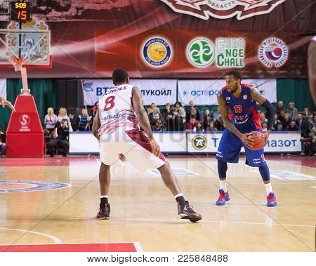 Samara, Russia - December 01: Bc Cska Forward Sonny Weems #13 With Ball During The Bc Krasnye Krylia