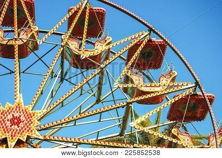 A Colourful Ferris Wheel At Aberdeen Carnival