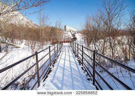 Walk Path To The Summit Of Mount Usu Or Usuzan